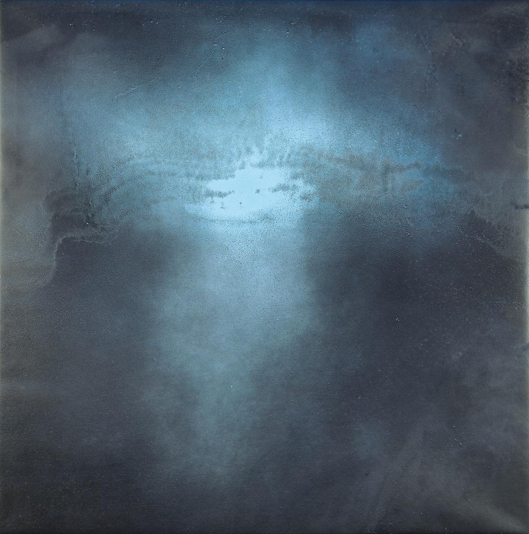 Lontano-potenziale-immateriale, 2012 acrilico su tela, 120 x 120 cm. Foto di Bruno Bani