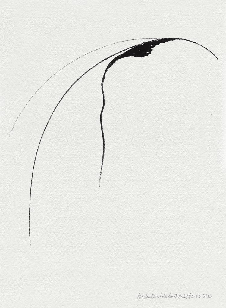 Pensare con la mano 11, 2013 pennarello indelebile su carta a mano, 35,5 x 25,2 cm. Foto di Bruno Bani