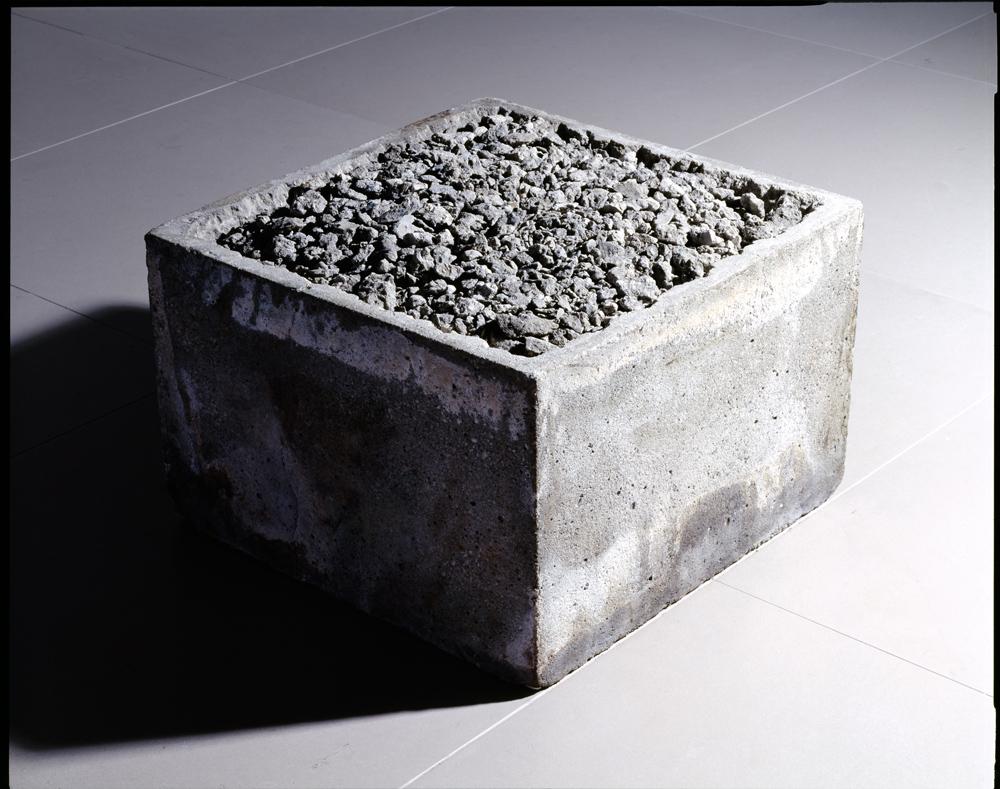 Jiro Takamatsu - Oneness of concrete - 1971, mattone di cemento.