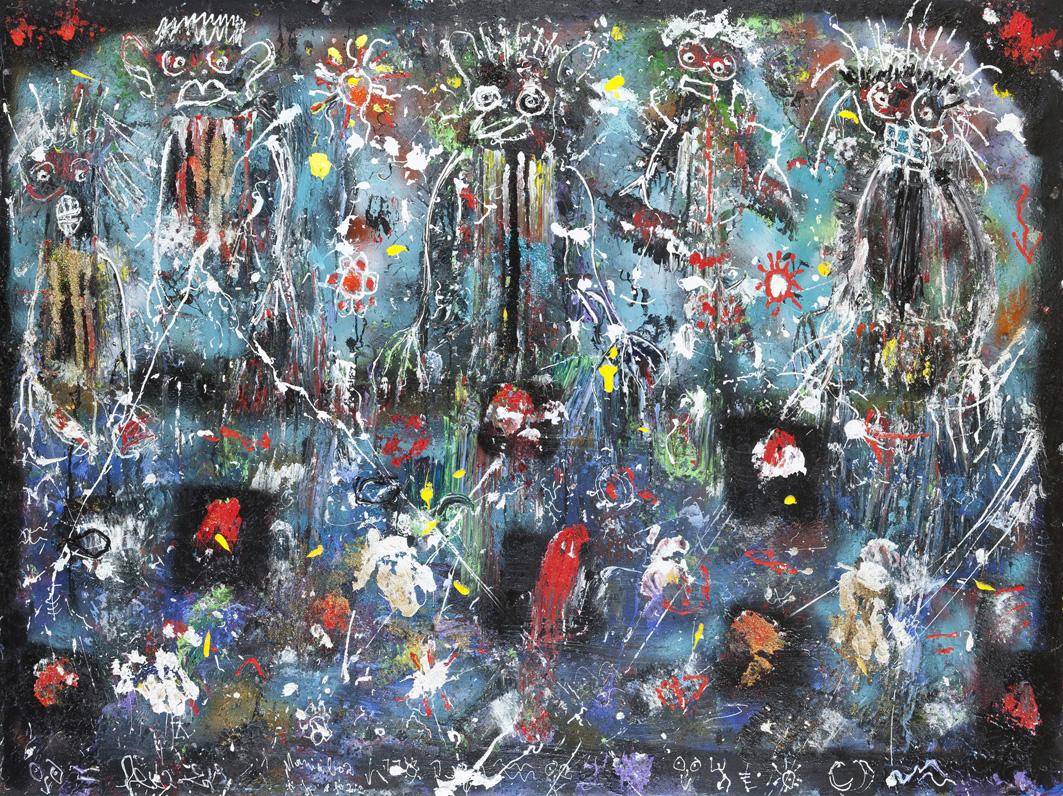 Mania Boz, 2012, acrylique sur toile, 150 x 200 cm
