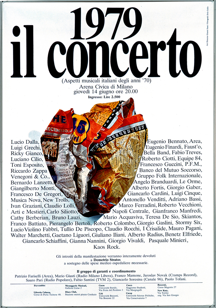 Manifesto, grafica di Gianni Sassi