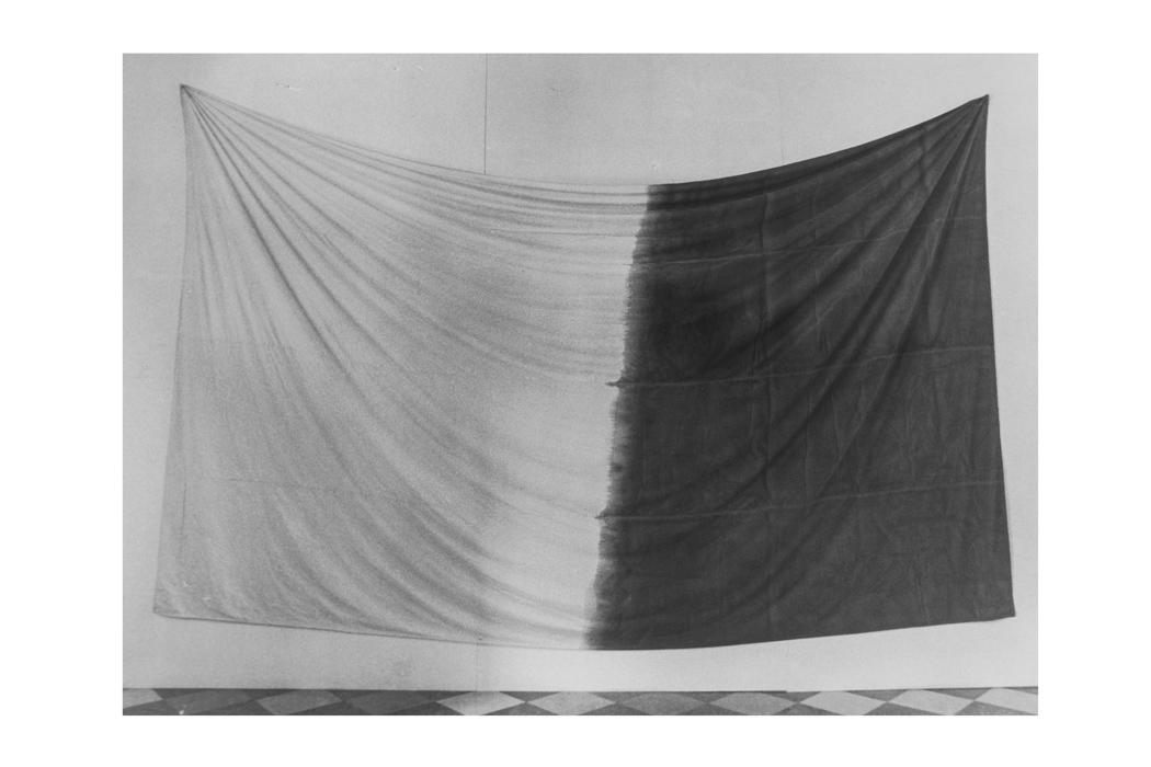 Koji Enokura - Untitled - colore ad olio su tessuto di cotone, dalla mostra Asiana, palazzo Vendramin Calergi, Venezia 1995. Foto di E. Cattaneo