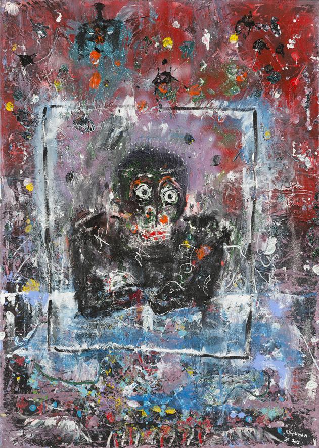 Hanuman, 2012, acrylique sur toile, 140 x 100cm
